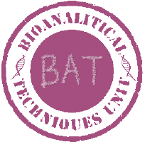 logo BAT. Bioanalytical Techniques Unit