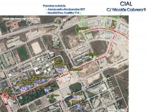 Acceso en transporte público al CIAL