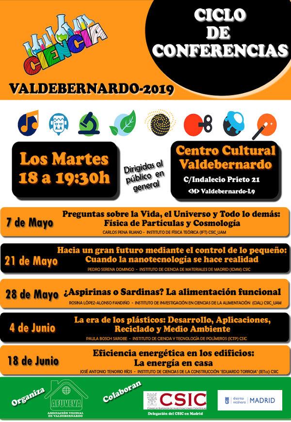 Cartel Ciclo Conferencias Valdebernardo 2019