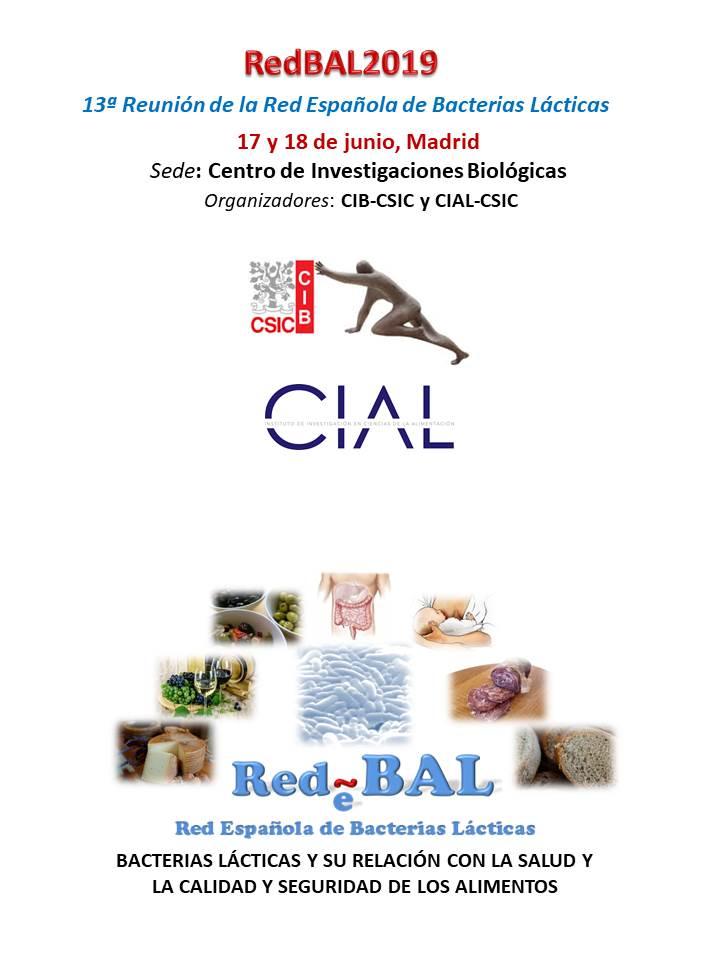 Cartel de la 13ª Reunión de la Red Española de Bacterias Lácticas
