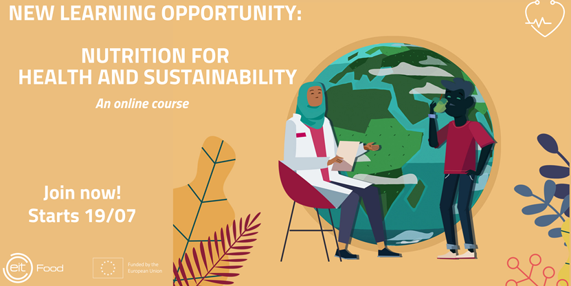 Online Course Banner: Nutrition for Health and Sustainability